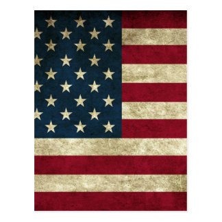 American Flag Red White And Blue Flag Postcard