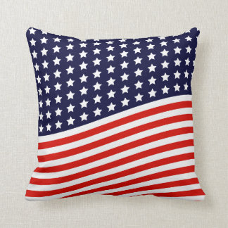 American Flag - Red, White and Blue USA Cushion