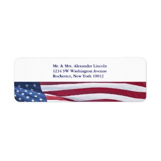 American Flag Red White & Blue Address Labels