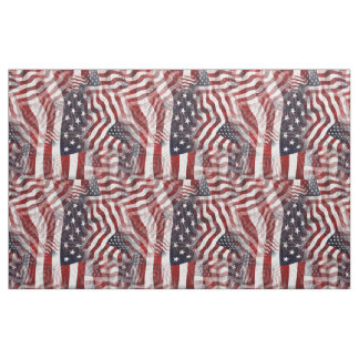 American Flag Red White Blue Stripes Stars Pattern Fabric