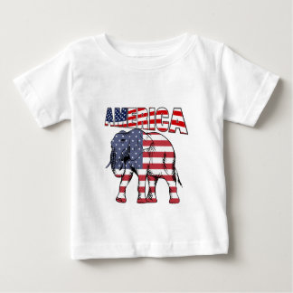 American Flag Republican Elephant Baby T-Shirt
