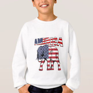 American Flag Republican Elephant Sweatshirt