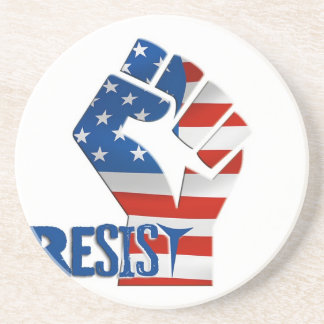 American Flag Resist Raised Fist Coaster