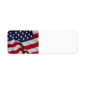 American Flag Return Address Label