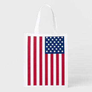 American Flag Market Totes
