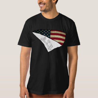 american flag ripped text usa T-Shirt