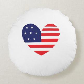American Flag Round Cushion