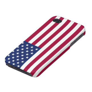 American Flag Savvy iPhone 4 Glossy Finish Cover For iPhone 4