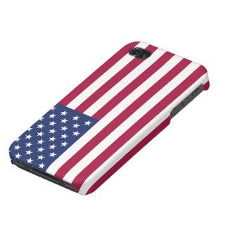 American Flag Savvy iPhone 4 Matte Finish iPhone 4/4S Covers