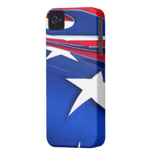 American Flag Shine BlackBerry Bold Case-Mate Bare Case-Mate iPhone 4 Case