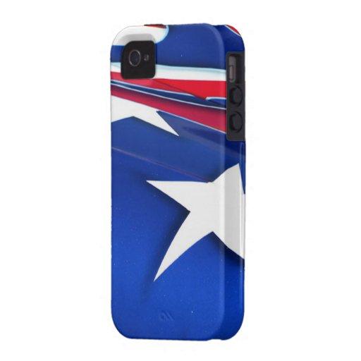 American Flag Shine iPhone 4 Case-Mate Tough