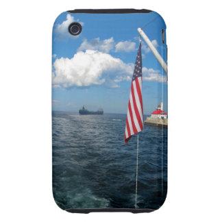 American Flag/ship Tough iPhone 3 Cover