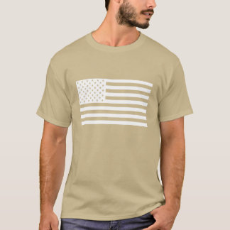 American Flag Shirt - White Text