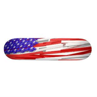 American flag skateboard deck