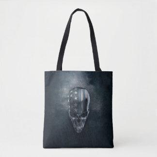 American Flag Skull All-Over-Print Tote Bag