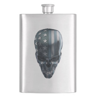 American Flag Skull Classic Flask