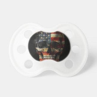 American flag skull dummy