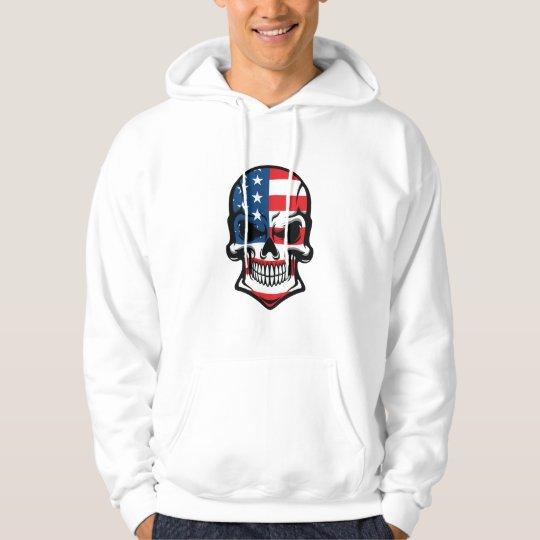 American Flag Skull Hoodie