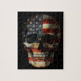 American flag skull jigsaw puzzle