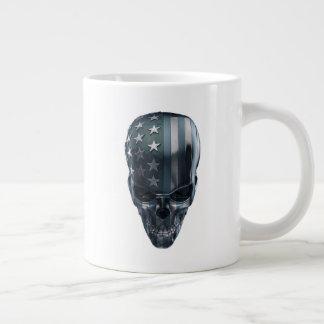 American Flag Skull Jumbo Mug