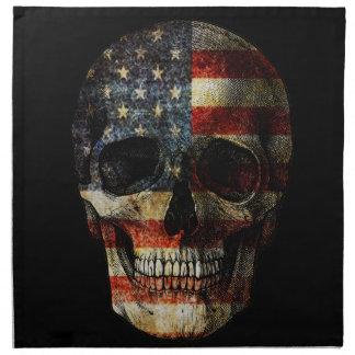 American flag skull napkin