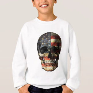American flag skull sweatshirt
