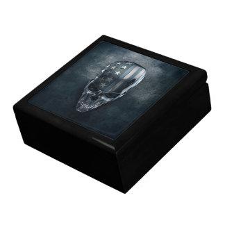 American Flag Skull Trinket Box