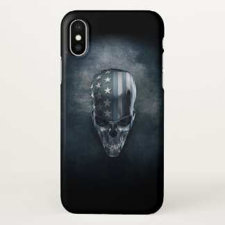 American Flag Skull Zazzle iPhone X Case