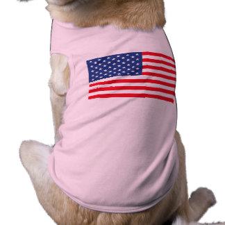 """AMERICAN FLAG"" SLEEVELESS DOG SHIRT"