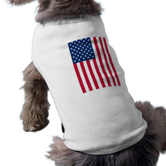 American Flag Sleeveless Dog Shirt