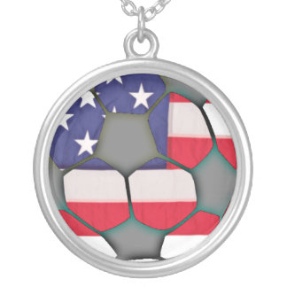 American Flag Soccer Ball Necklace