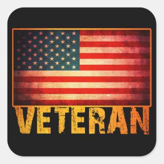 American Flag Square Sticker