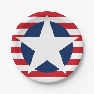 American Flag Star and Stripes Patriotic 7 Inch Paper Plate