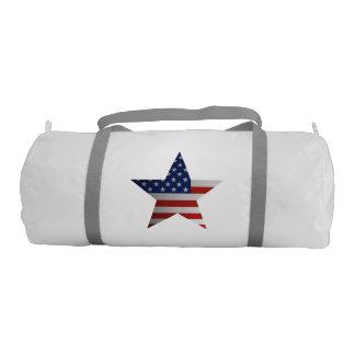 American Flag Star. Gym Duffel Bag