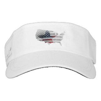 American Flag Star Patch. Visor