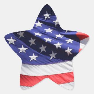 American Flag star-shaped sticker