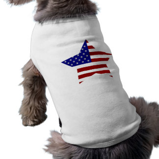 American Flag Star Sleeveless Dog Shirt
