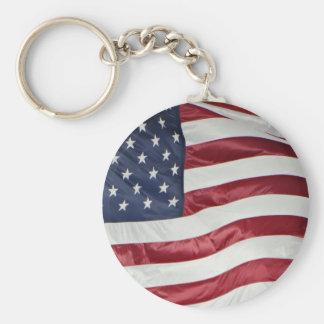 American Flag,Star Spangled Banner red white blue Key Ring