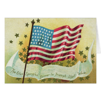 American Flag Star Spangled Banner Stars Greeting Card