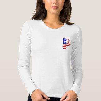 American flag, stars and stripes monogram P T-shirt