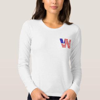 American flag, stars and stripes monogram W Tshirt