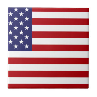 American Flag - Stars and Stripes - Old Glory Ceramic Tile