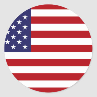 American Flag - Stars and Stripes - Old Glory Classic Round Sticker