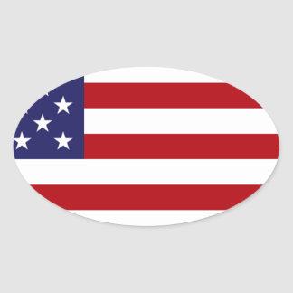 American Flag - Stars and Stripes - Old Glory Oval Sticker