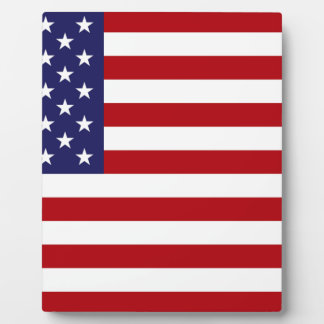 American Flag - Stars and Stripes - Old Glory Photo Plaque