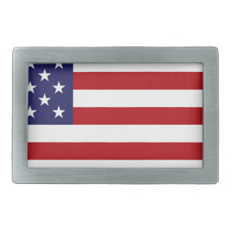 American Flag - Stars and Stripes - Old Glory Rectangular Belt Buckle