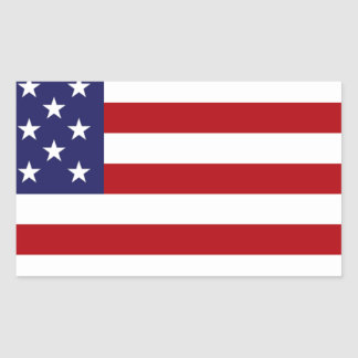American Flag - Stars and Stripes - Old Glory Rectangular Sticker