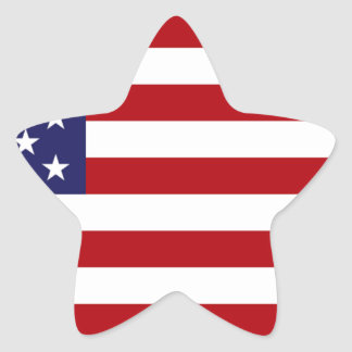 American Flag - Stars and Stripes - Old Glory Star Sticker