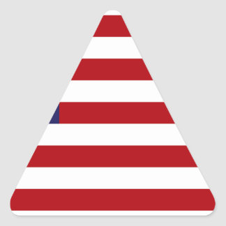 American Flag - Stars and Stripes - Old Glory Triangle Sticker