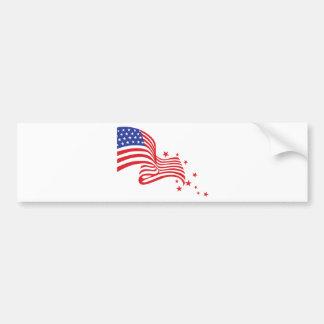 American Flag Stars Bumper Sticker